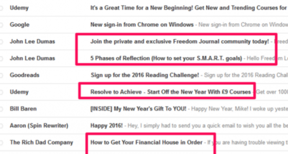 optimised subject lines