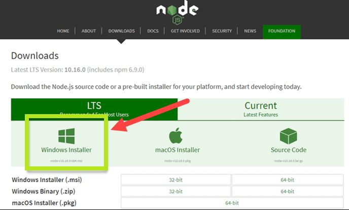 Install Node.js and NPM